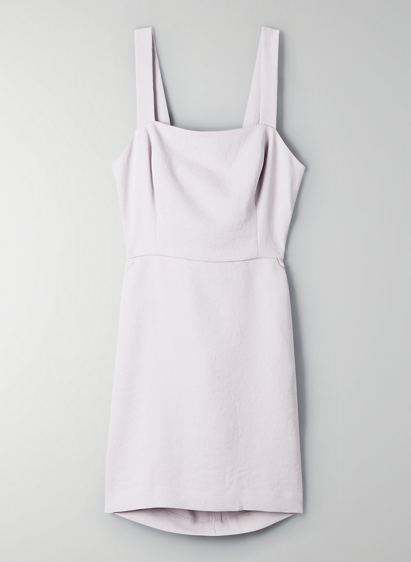 ÉCOULEMENT MINI DRESS - A-line, tie-back dress