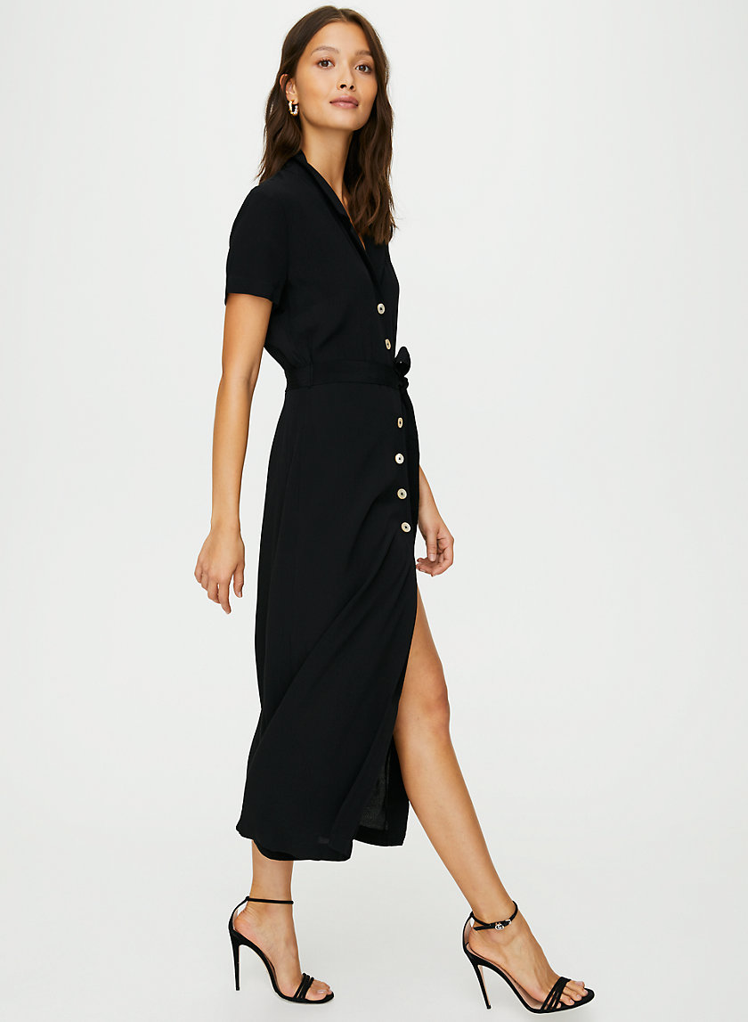 SHIRT DRESS - Button-front midi dress