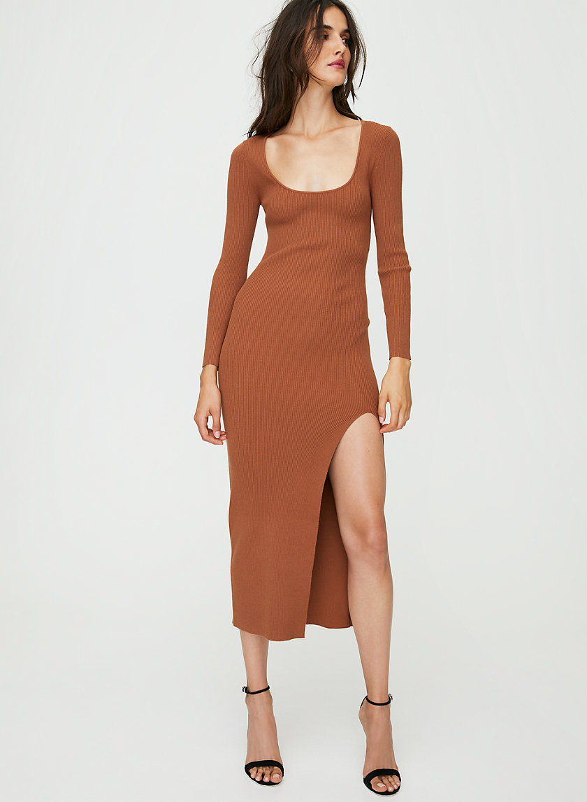 MAEVE DRESS - Long-sleeve bodycon maxi dress