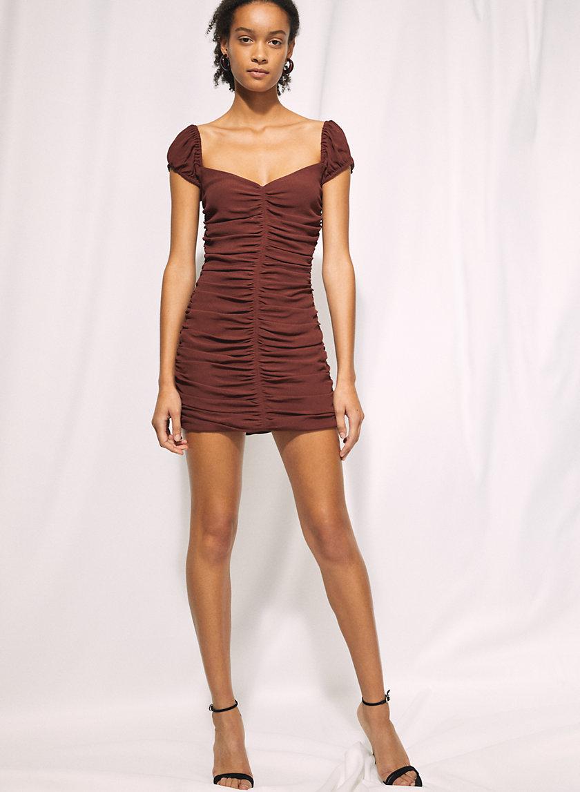 VEDA DRESS - Ruched mini dress