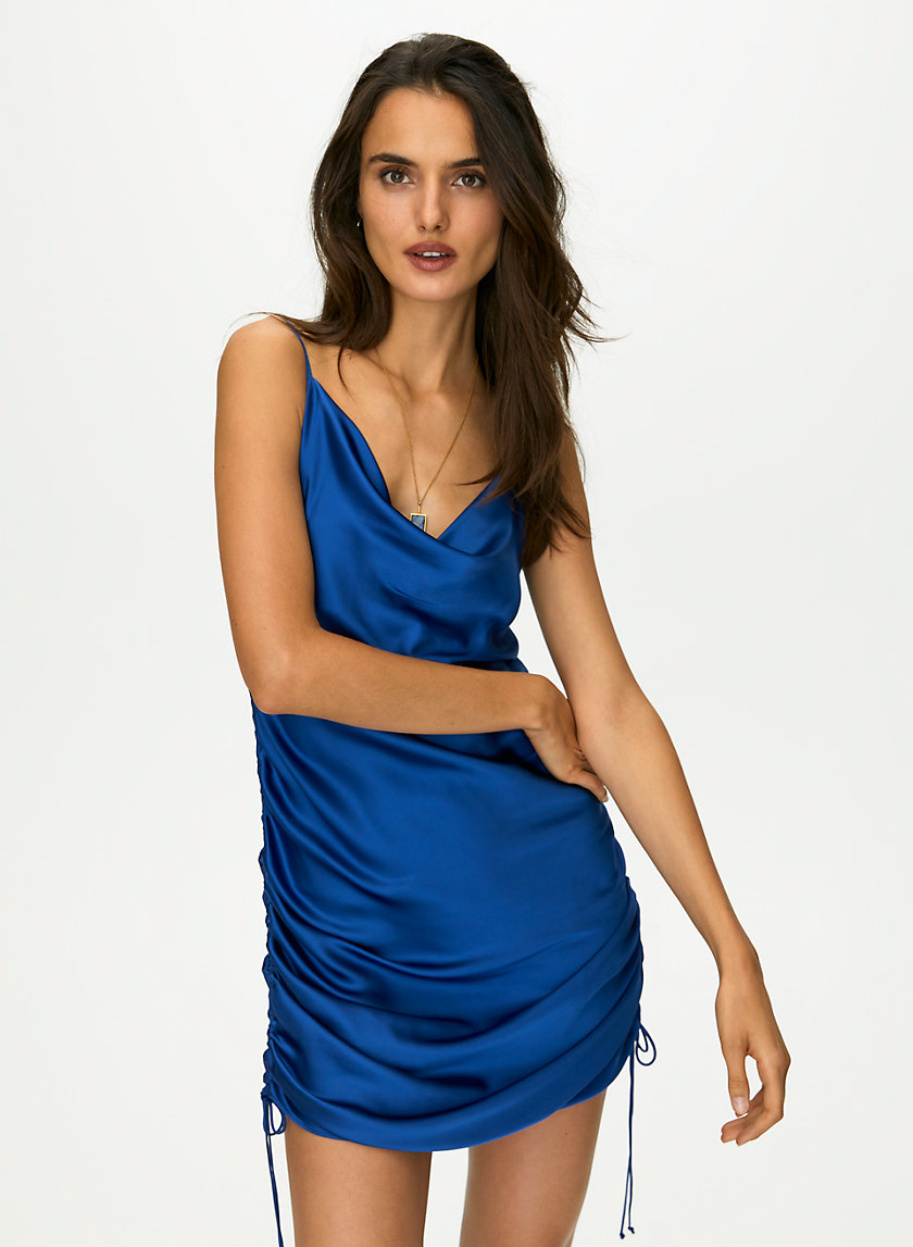 ONLY RUCHED SLIP DRESS - Versatile ruched dress