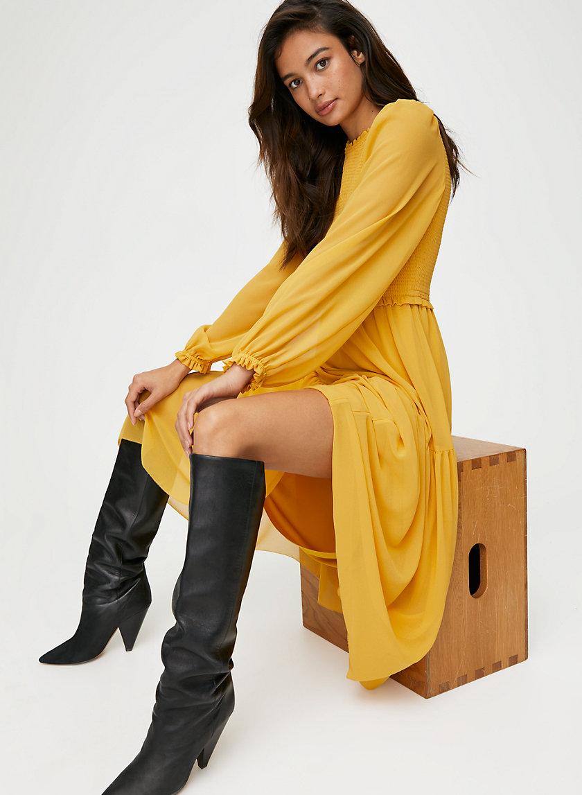 ROSALYN DRESS - Smocked chiffon dress