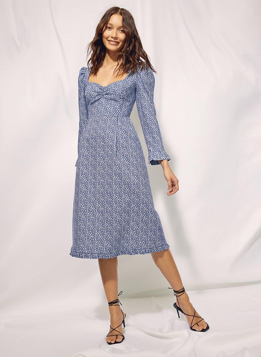 POLLY DRESS - Long-sleeve ruffled prairie dress