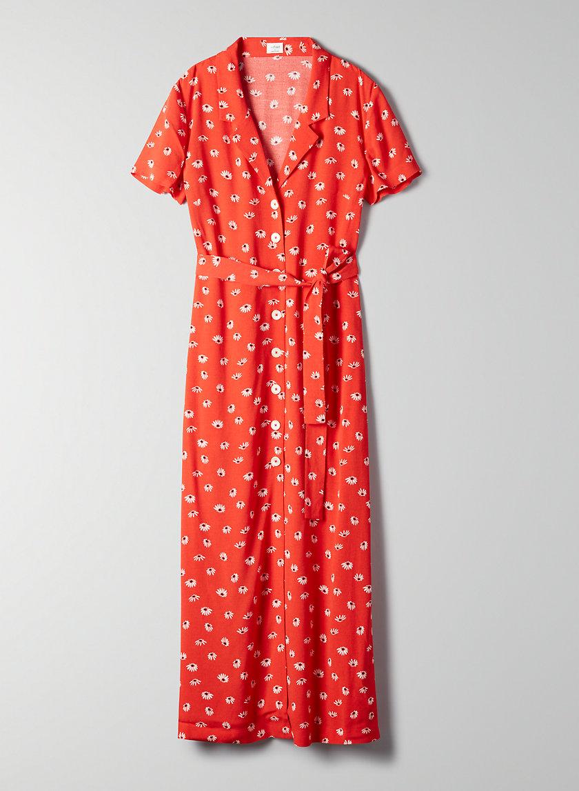 SHIRT DRESS - Button-front midi dress
