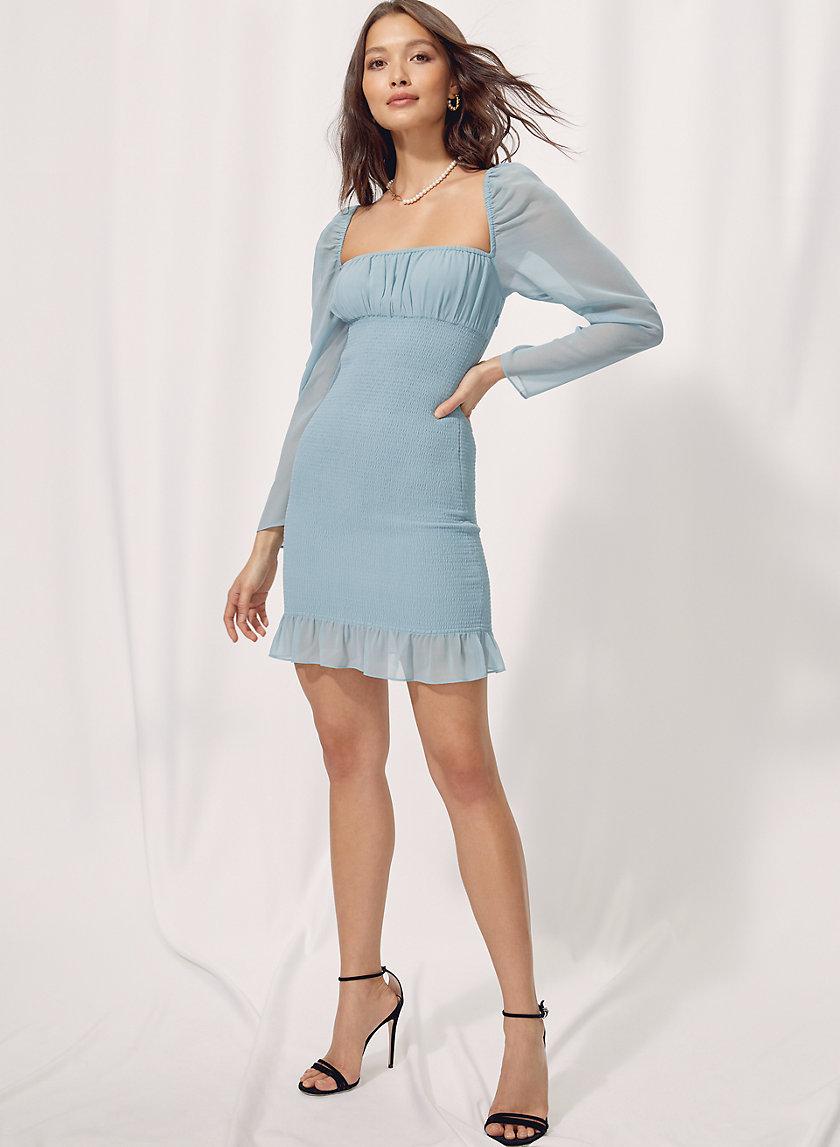 BALLAD DRESS - Shirred milkmaid mini dress