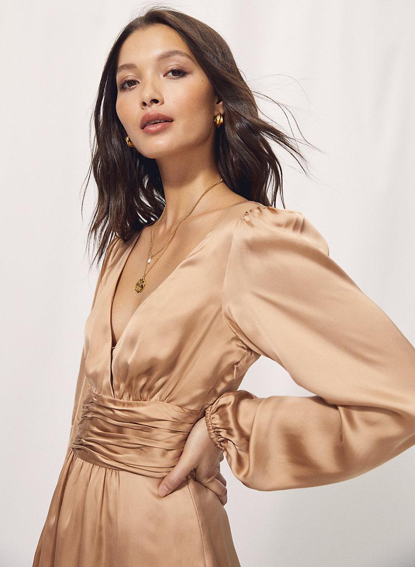 RHYTHM DRESS - Plunging v-neck mini dress