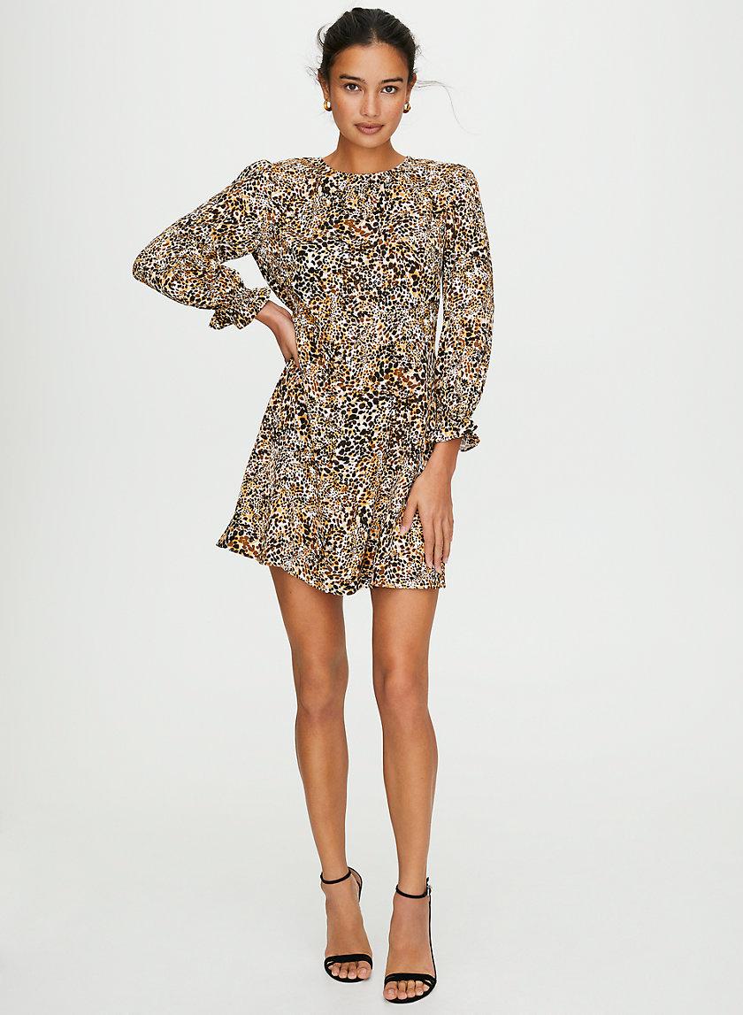 BAROQUE DRESS - Puff-sleeve mini dress