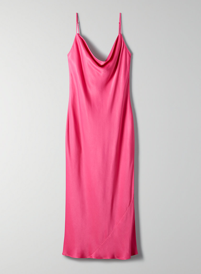 CANTO DRESS - Satin slip dress