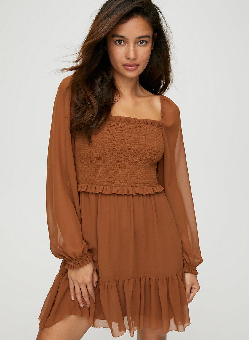 LAKEN MINI DRESS - Puff-sleeve mini dress