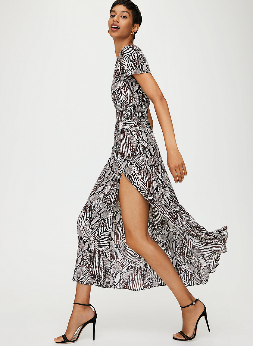 MAXIME DRESS - Animal-print maxi dress