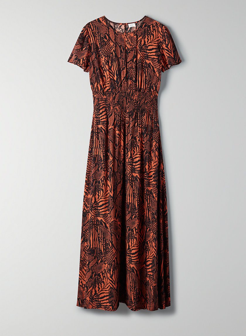 MAXIME DRESS - Animal-print maxi dress