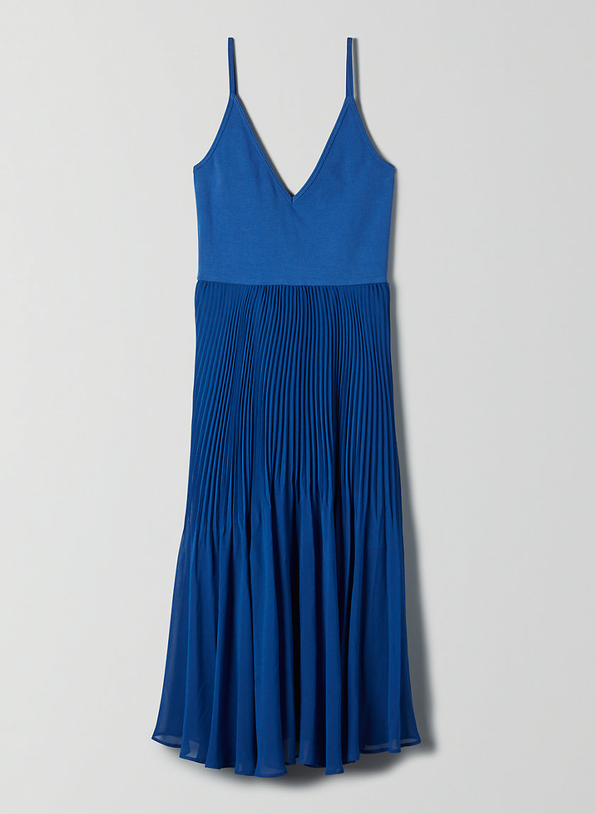 DAPHNEE DRESS - Fit-and-flare pleated dress