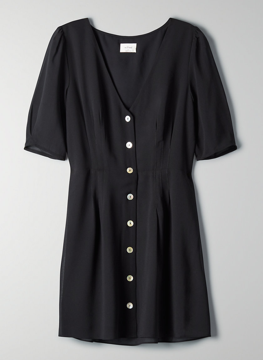 NEW BUTTON-FRONT DRESS - Short-sleeve A-line dress