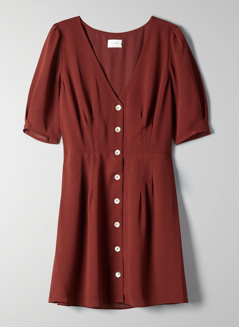 NEW BUTTON-FRONT DRESS - Short-sleeve A-line dress