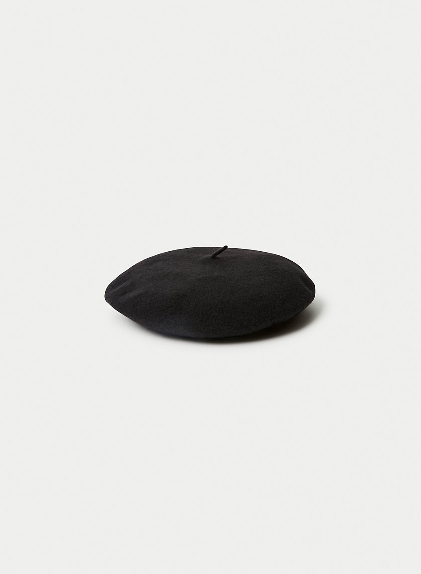 WOOL BERET - Lambswool milliner beret