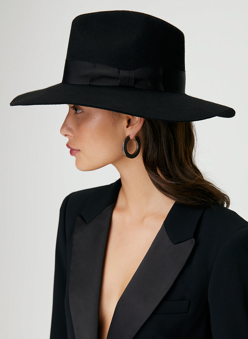 WIDE BRIM WOOL FEDORA
