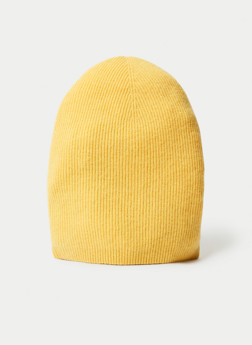 CASHMERE RIB BEANIE - Cashmere toque hat
