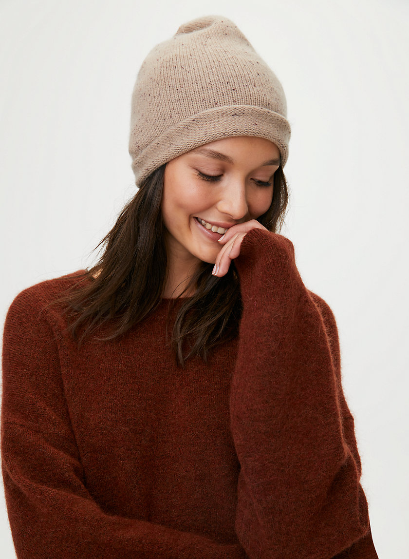CASHMERE JERSEY BEANIE - Relaxed beanie