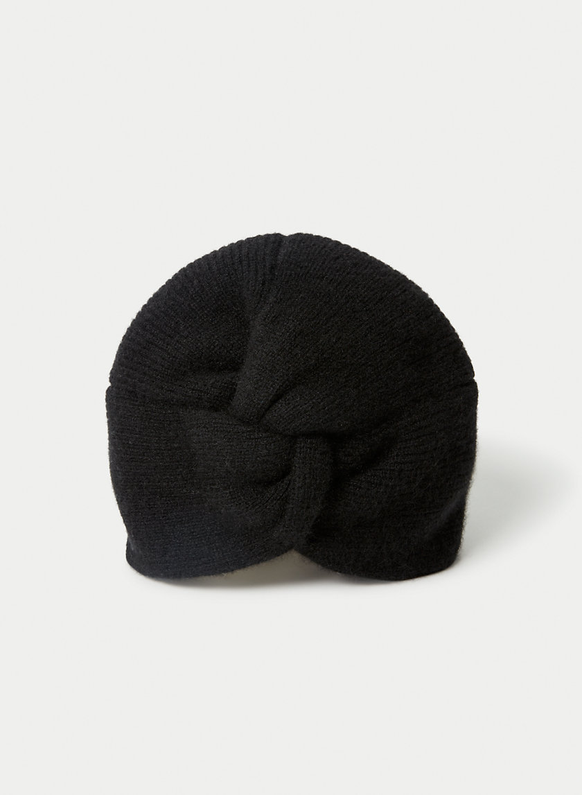 CASHMERE KNOTTED HAT - Cashmere turban beanie