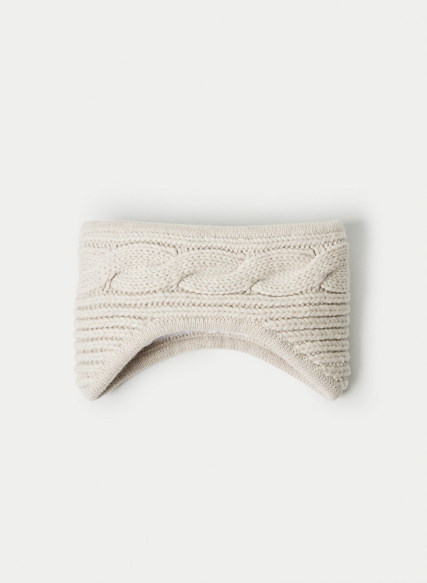 WOOL CABLE HEADBAND - Cable-knit headband