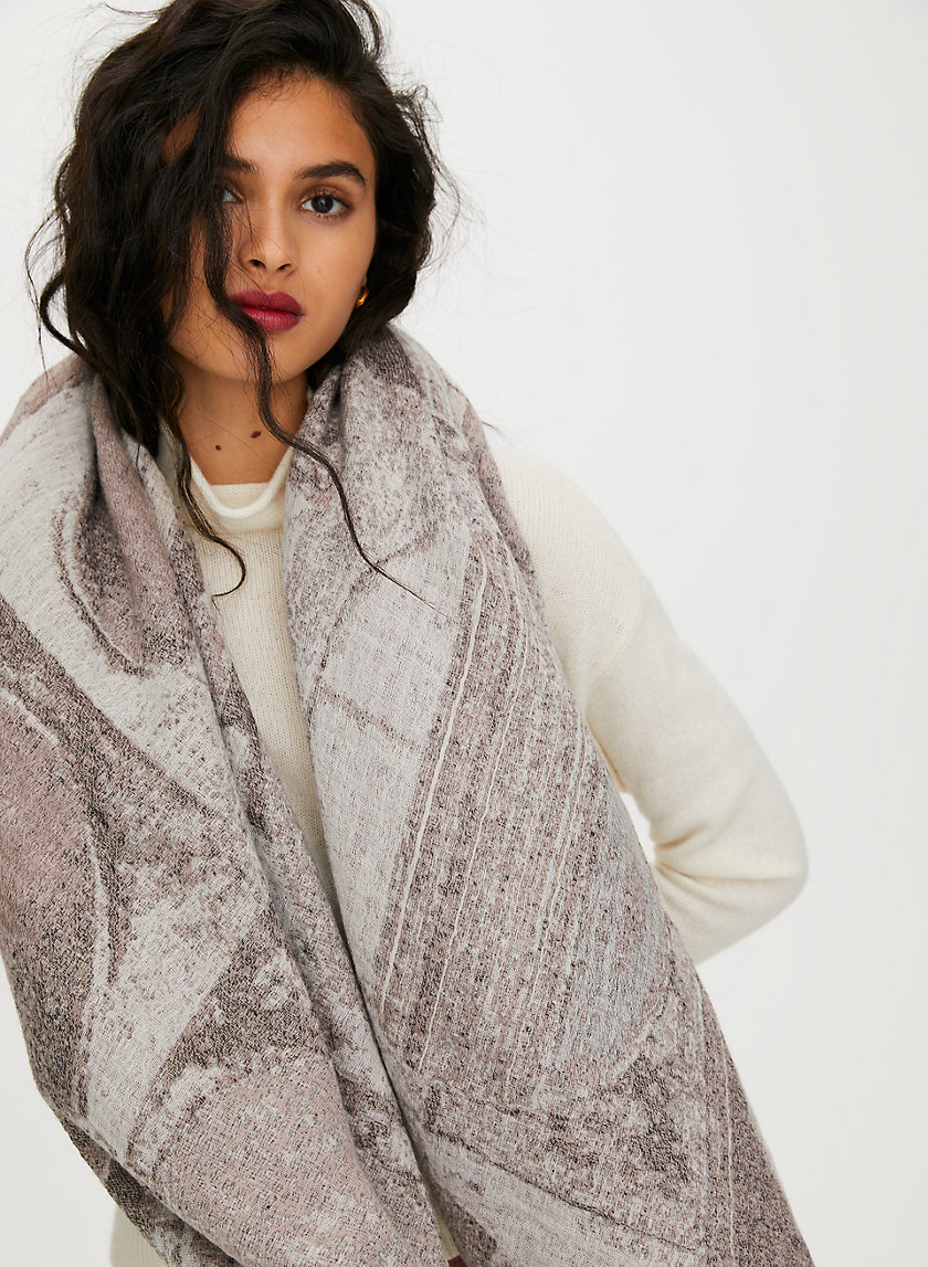 HAUS BLANKET SCARF - Patterned, wool blanket scarf