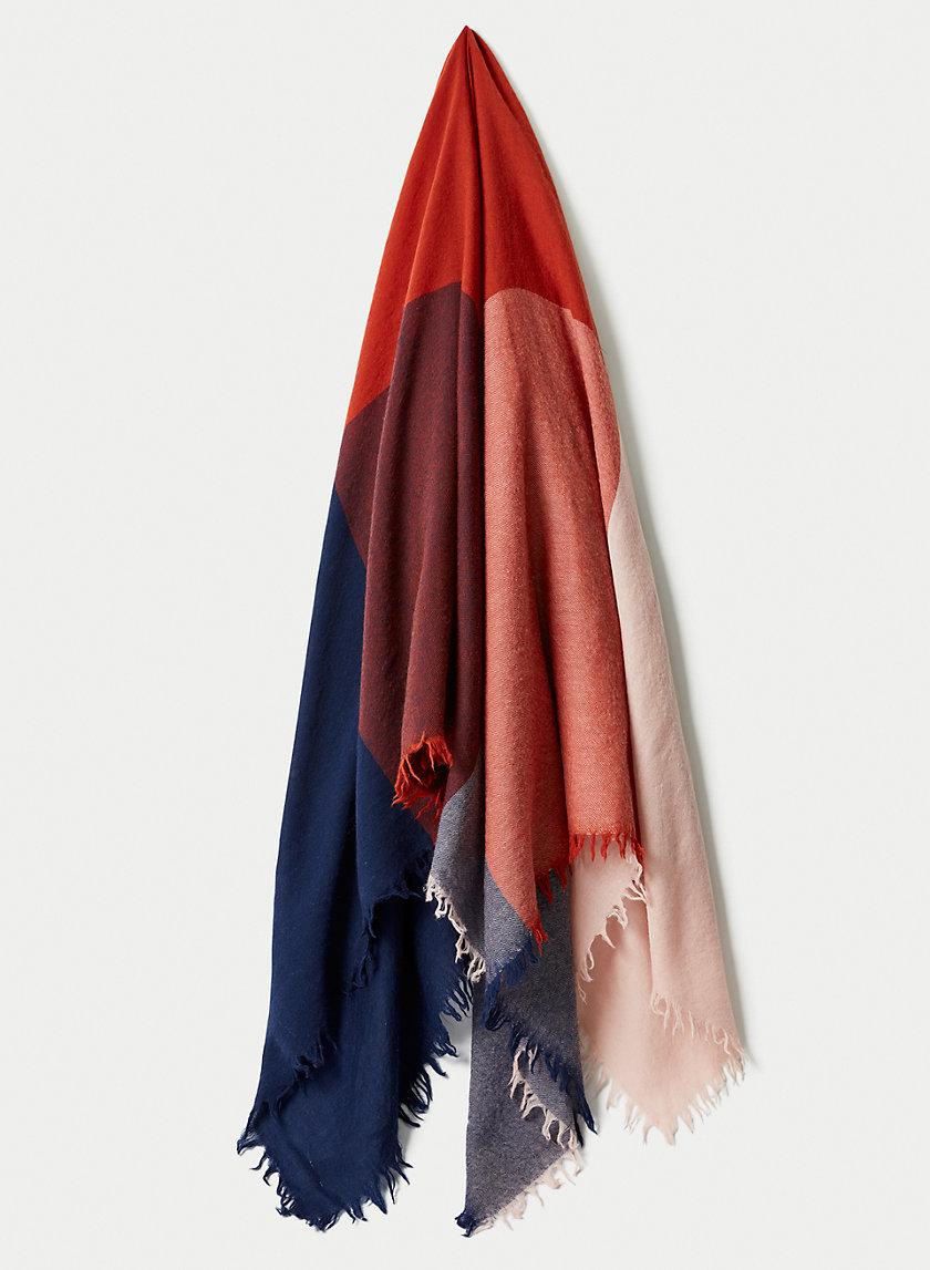 COLOUR BLOCK BLANKET SCARF - Color-block blanket scarf