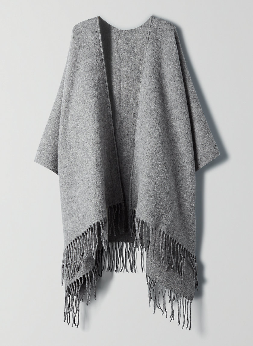 WOOL CAPE - Oversized wool poncho