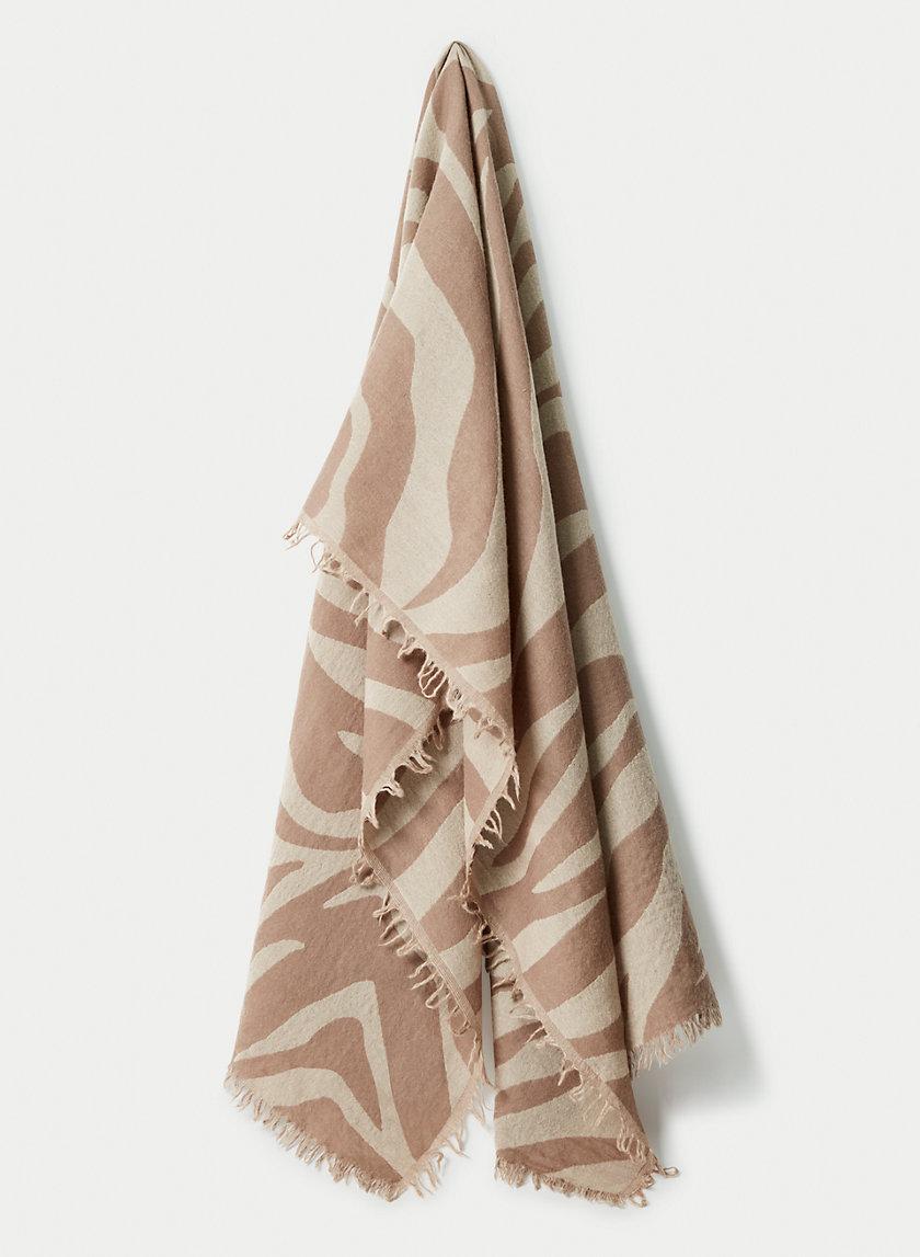 LONDYN ZEBRA SCARF - Zebra-print wool scarf