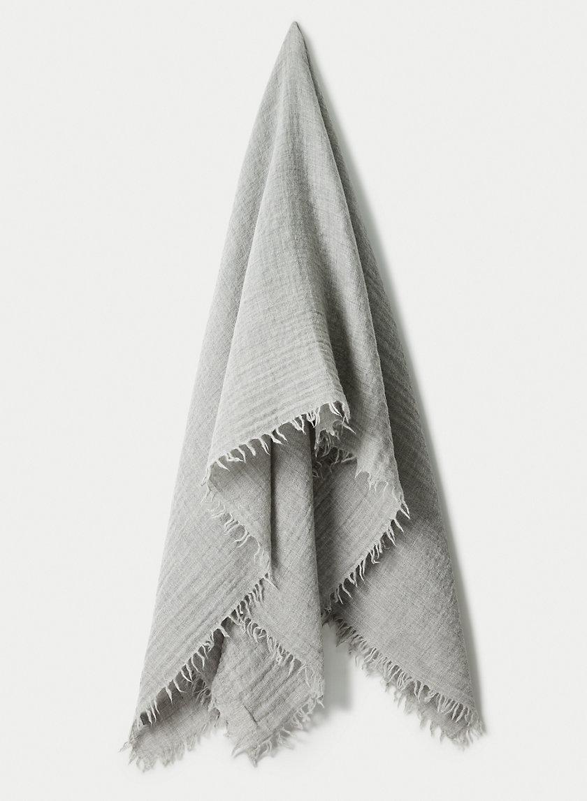 SOLID WOOL BLANKET SCARF - Wool blanket scarf