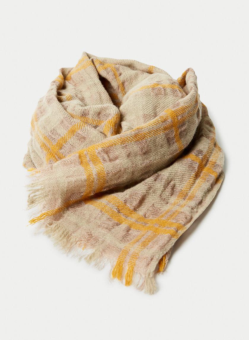 NEWTON PLAID SCARF - Plaid oblong scarf