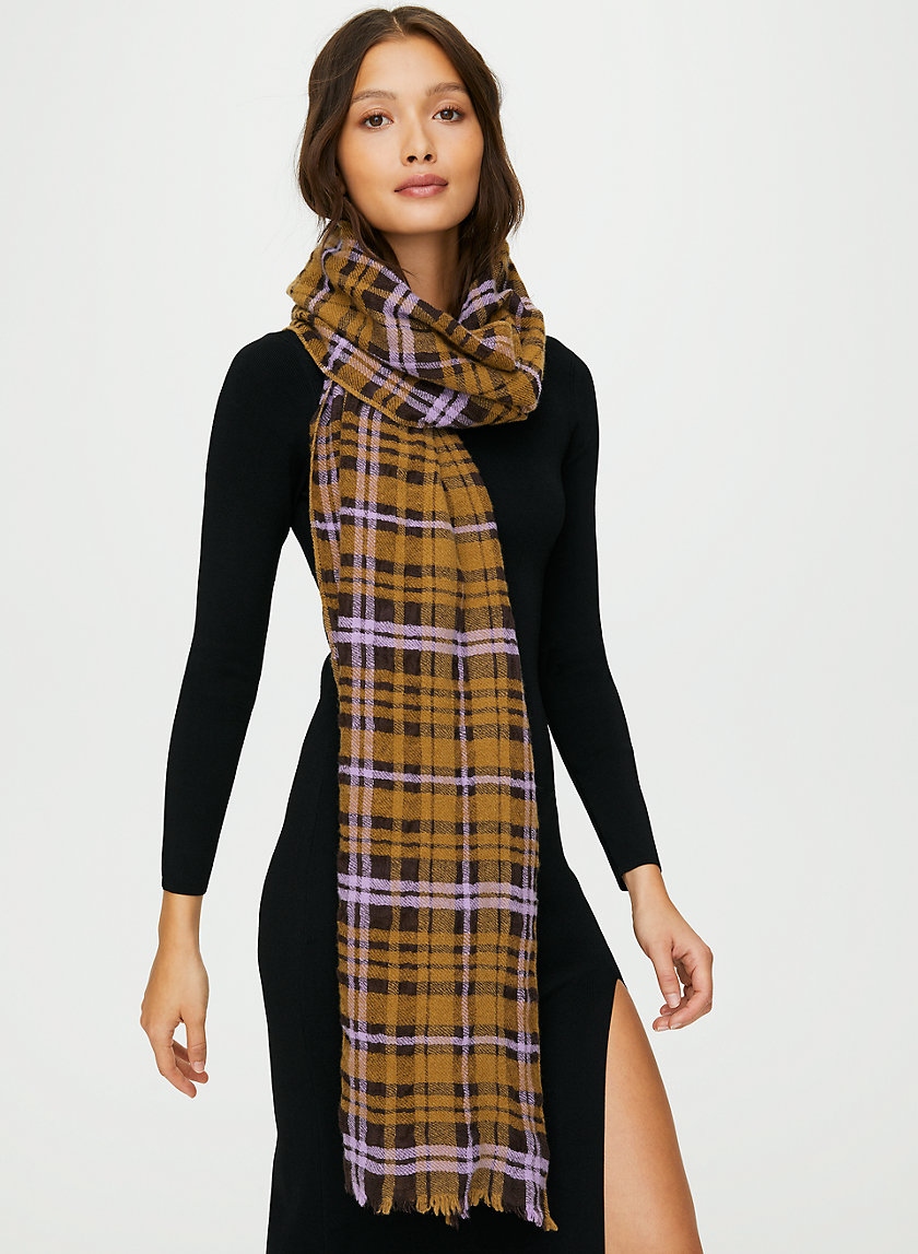 NEWTON PLAID SCARF - Plaid oblong scarf