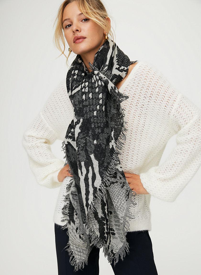 MIXED BLANKET SCARF - Wool blanket scarf