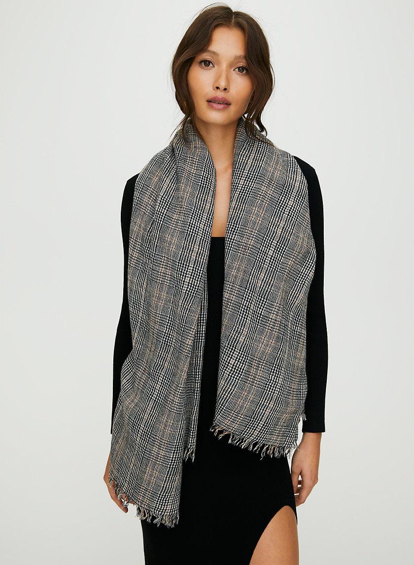 GLEN BLANKET SCARF - Reversible wool blanket scarf
