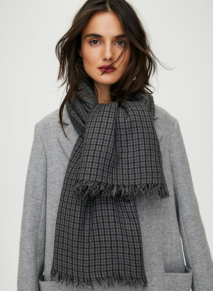 ELIOT BLANKET SCARF - Checkered wool blanket scarf