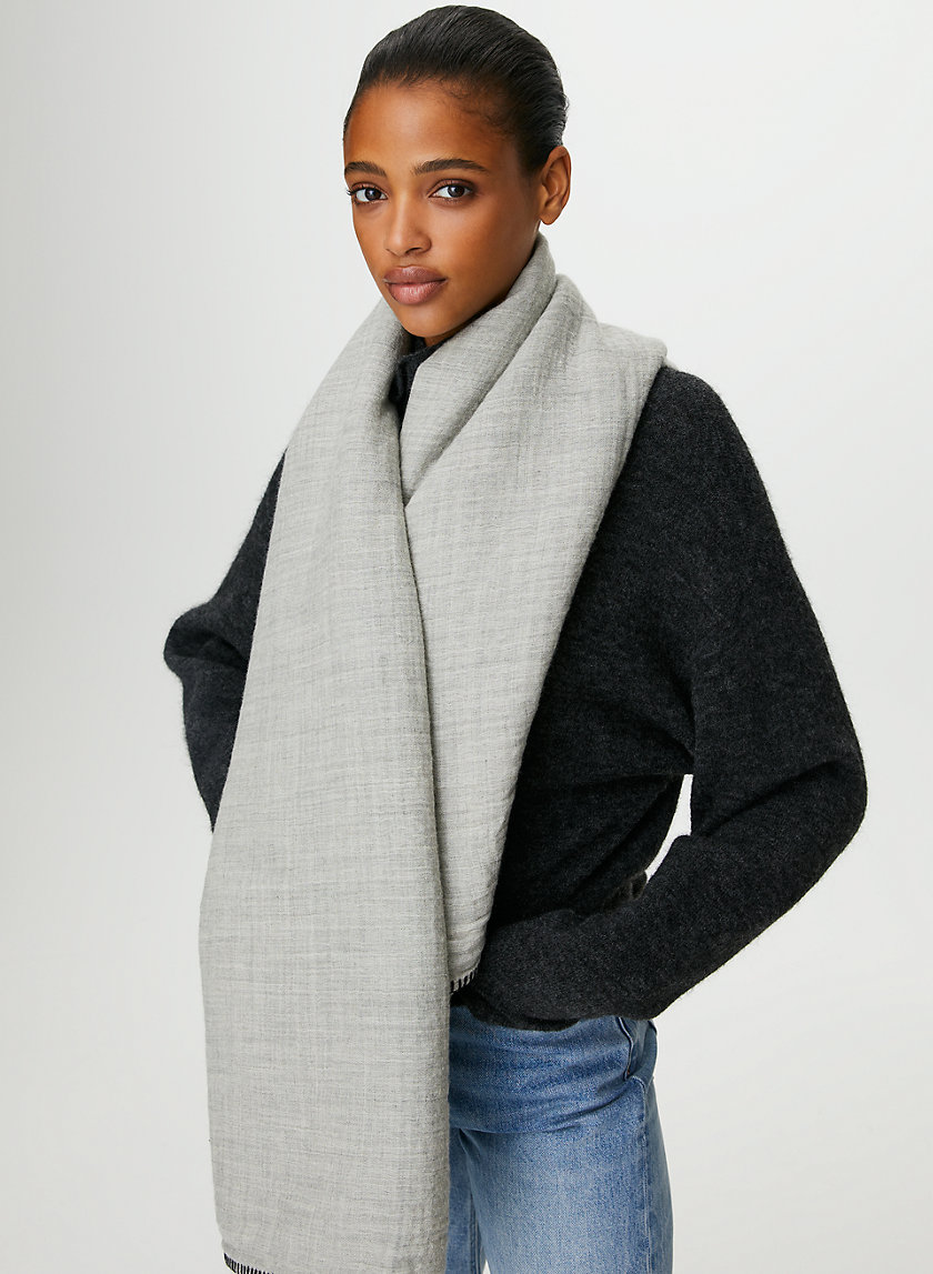 WOOL BLANKET SCARF - Oversized wool scarf