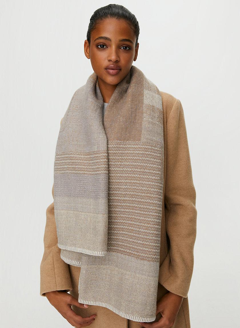 WOOL BLANKET SCARF - Geometric-print wool blanket scarf