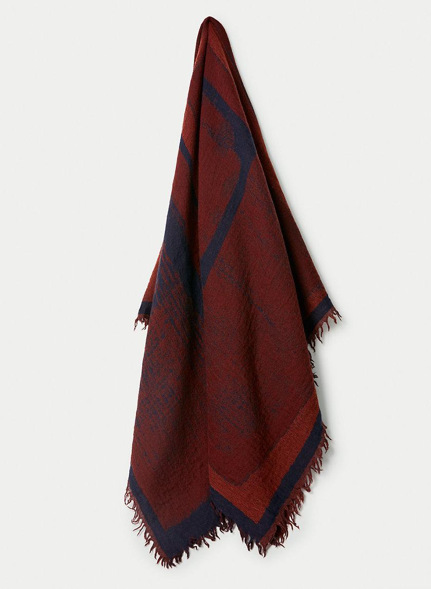 ROTHKO BLANKET SCARF - Reversible wool blanket scarf