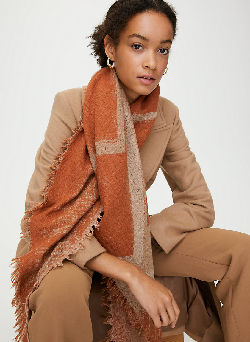 ROTHKO SCARF - Printed wool triangle scarf