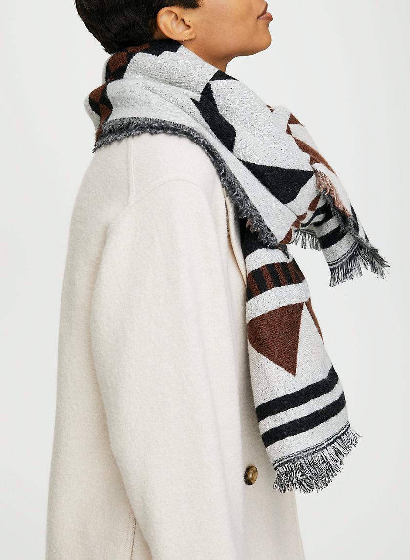 GEO BLANKET SCARF - Geometric wool blanket scarf