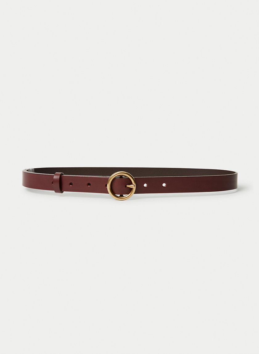 SKINNY RING JEAN BELT - Skinny leather belt