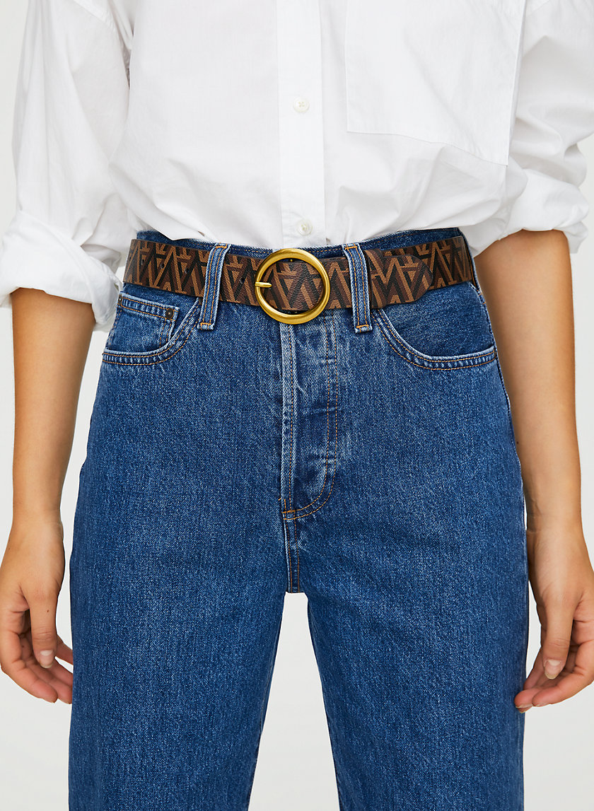 CLASSIC RING BELT - Monogram print belt