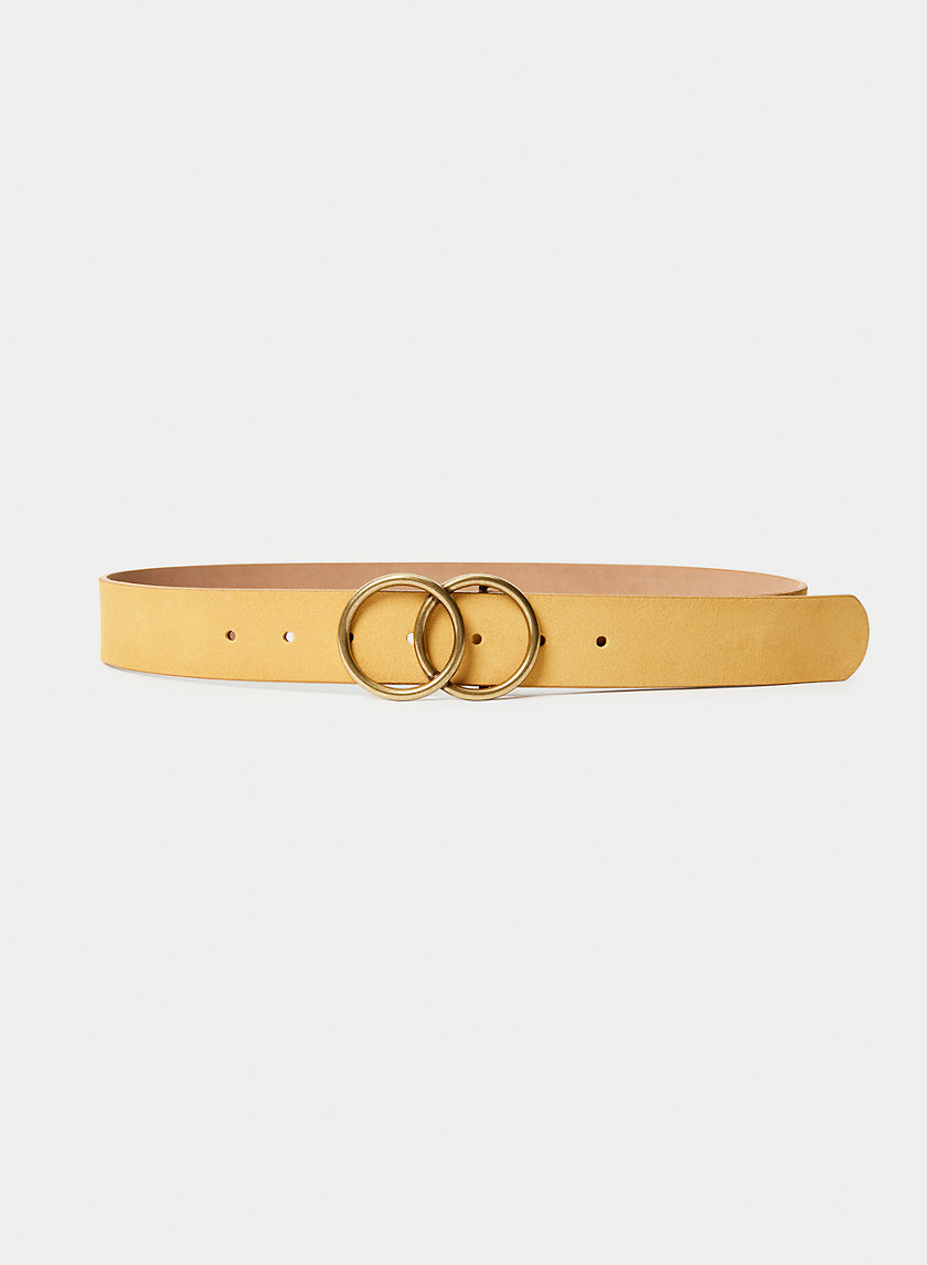 DOUBLE RING JEAN BELT - Suede belt