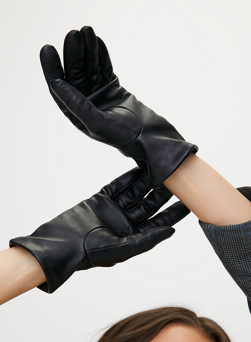 LEATHER GLOVES - Tech-friendly leather gloves