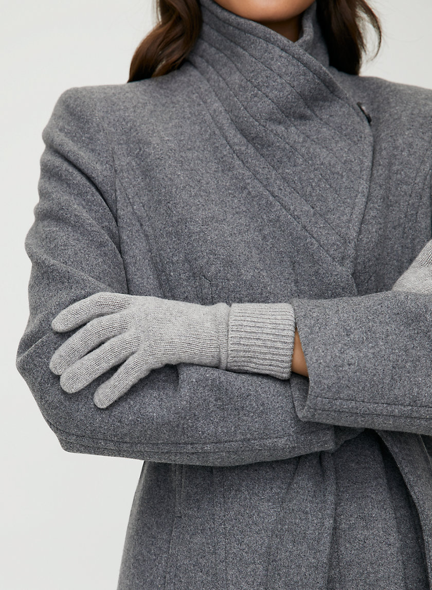 CASHMERE CUFFED GLOVES - Cashmere gloves