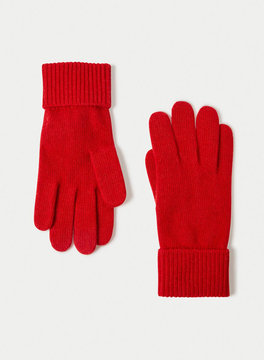 CASHMERE CUFFED GLOVES - Cashmere gloves
