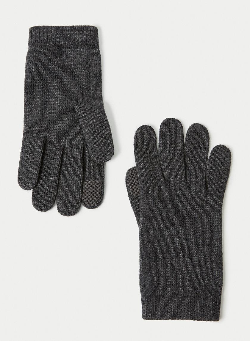 CASHMERE TECH GLOVES - Tech-friendly cashmere gloves