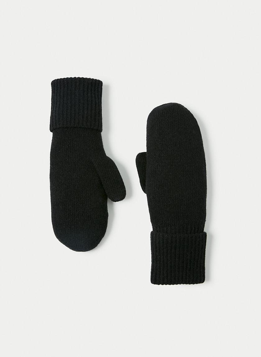 CASHMERE CUFFED MITTEN - Cashmere mittens