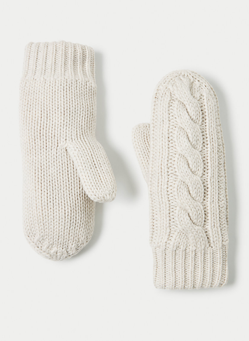 WOOL CABLE MITTENS - Cableknit wool mittens