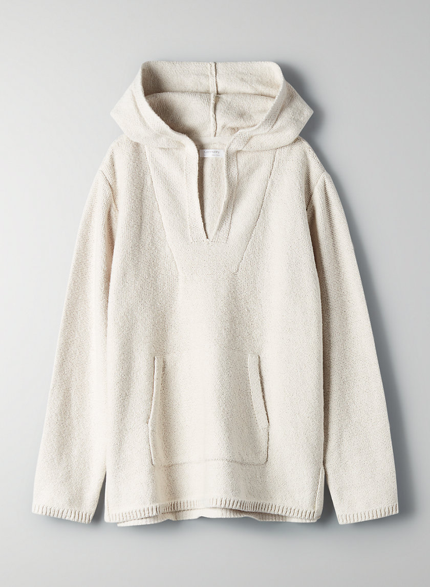 VILLAGE HOODIE - Relaxed pullover sweater