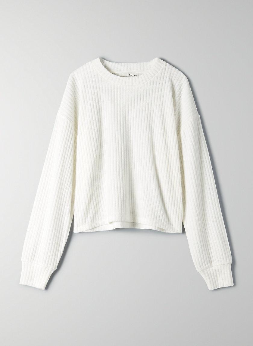 RUDKO LONGSLEEVE - Cropped, long-sleeve, ribbed shirt